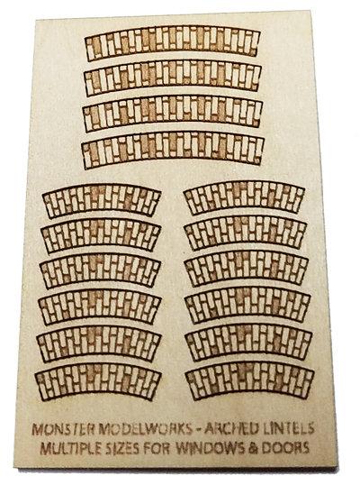 HO Scale - .50 Diameter Arched Brick Lintels