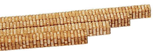 HO Scale - 1/8 Aged American Brick Corners