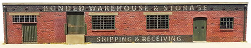 HO Scale -  Bonded Warehouse & Storage Background Flat Kit