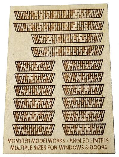 HO Scale - Angled Brick Lintels