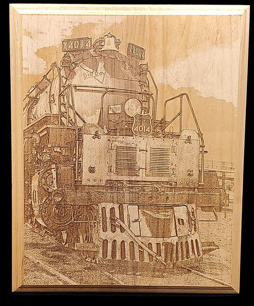 """Railfan Photo Plaque 8""""x10"""""""