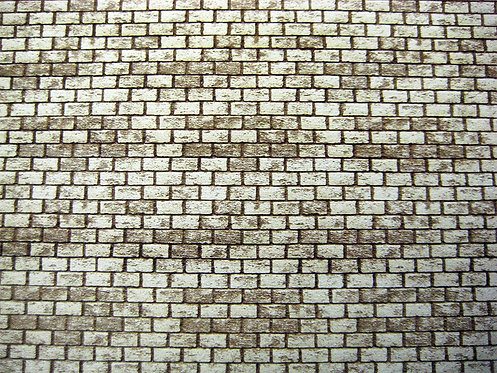 "S Scale Concrete Block Sheet 12""x4""x1/8"" Basswood Sheet"