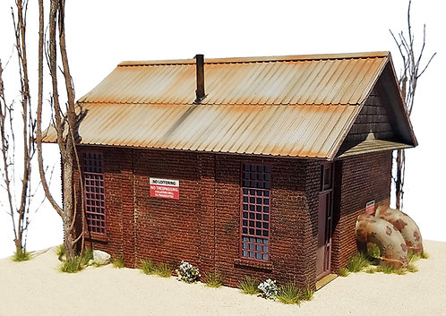 HO Scale - Brick Pumping Station Kit
