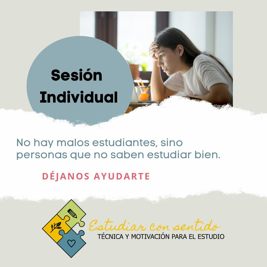 Sesión individual para estudiantes