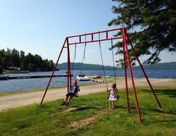 Swings Tent side
