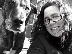 pet sitter with a dog