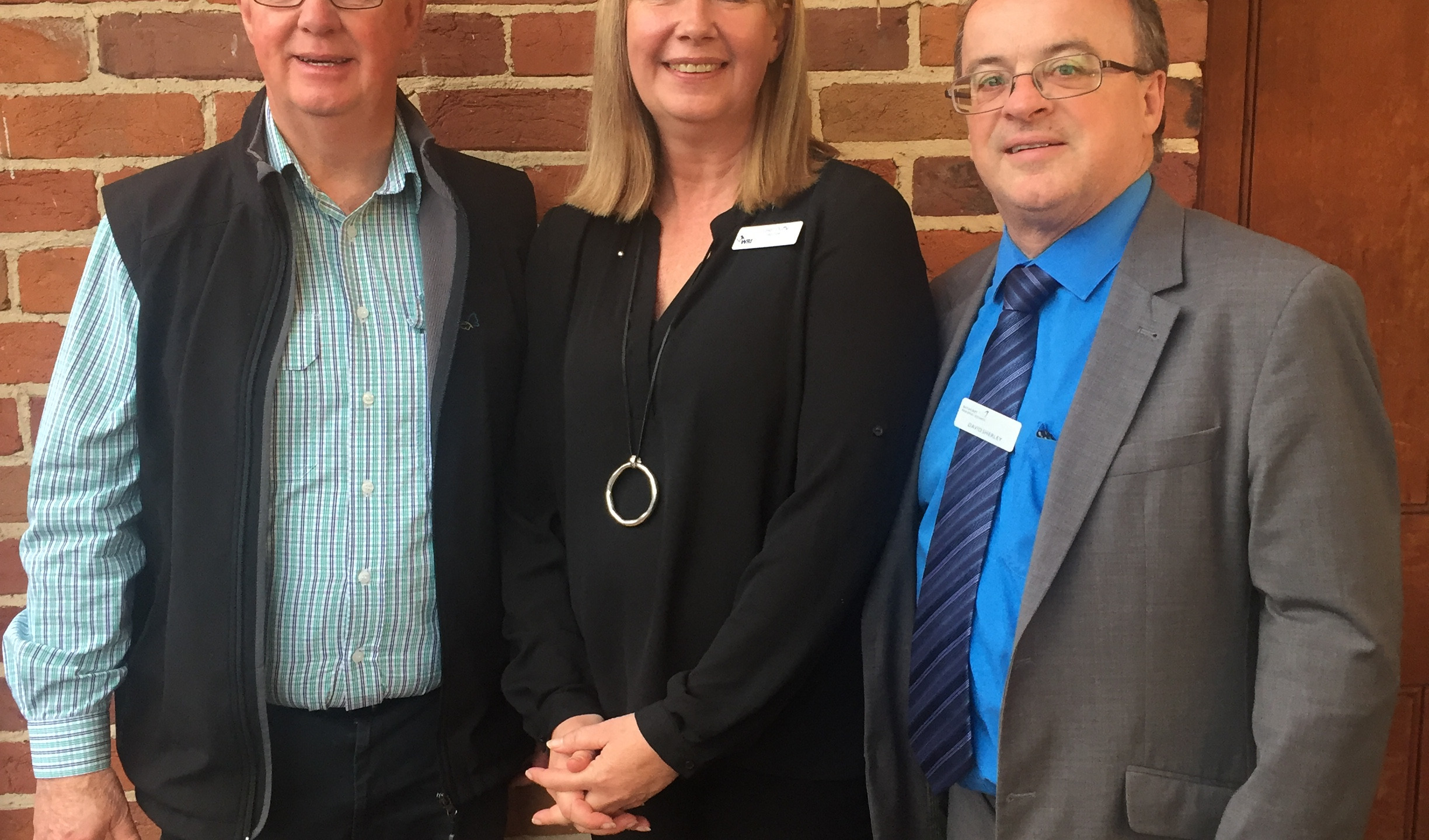 WRI Chair Juliet Duffy with Mayor of Bathurst Graeme Hanger OAM and General Manager David Sherley
