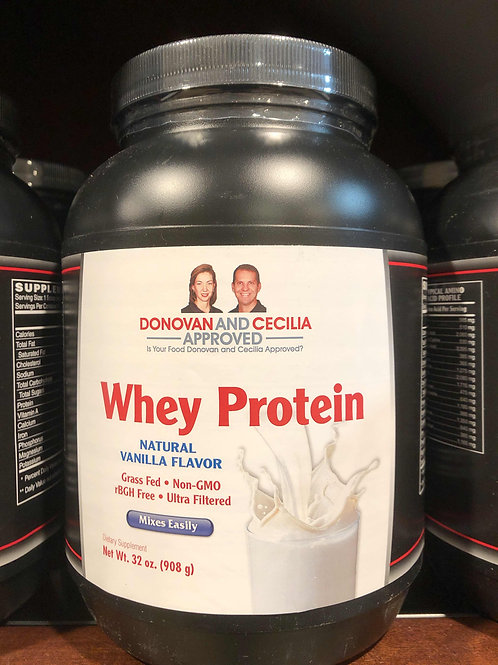 Grass Fed Vanilla Whey Protein 32 ounce by DCA