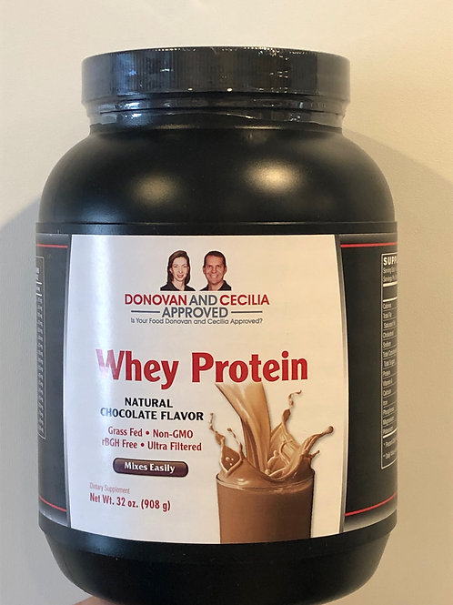 Grass Fed Chocolate Whey Protein 32 ounce by DCA