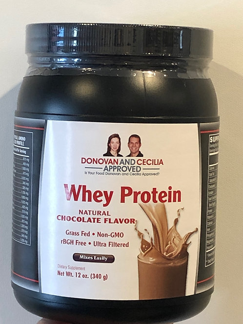 Grass Fed Chocolate Whey Protein 12 ounce by DCA
