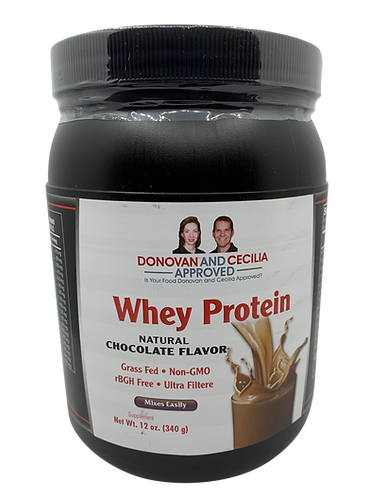 Whey Protein, Grass Fed 12 ounce Vanilla or Chocolate