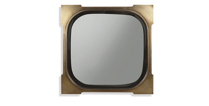 Tuan Louis Button Mirror Square