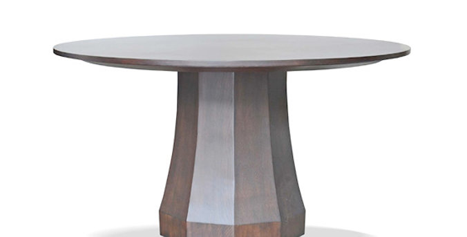 Facet Round Dining Table