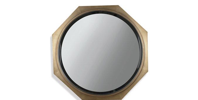 Tuan Louis Button Mirror Octagon