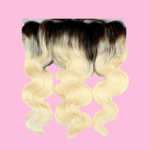613 Blonde W/ 1B Roots Lace Frontal