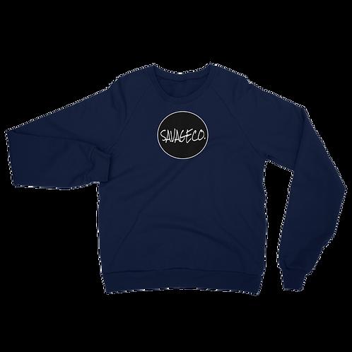 Savageco. California Fleece Raglan Sweatshirt   Blue