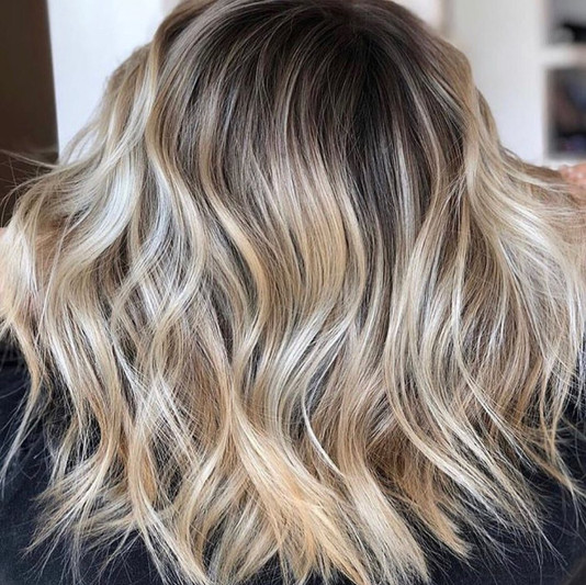 Cut and color: textured lob