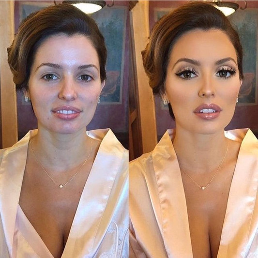Elegant makeup application