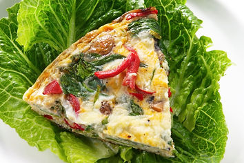 Fritatta, Italian-style omelette, with s