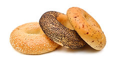 Stack of bagels on white background .jpg