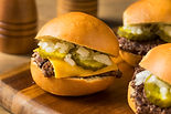 Homemade Beef Cheeseburger Sliders with