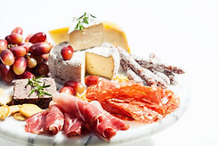 Food tray with charcuterie assortment, c