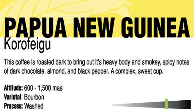 Organic Papua New Guinea Korofeigu
