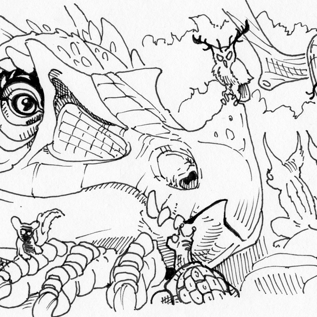 Wildlife, Epyllion Line Art