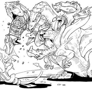 Hydra, Epyllion Line Art