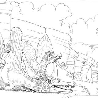 Stunning Sunning Spinosaurus