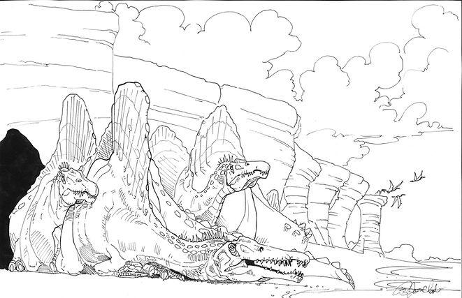 Basking Spinosaurus