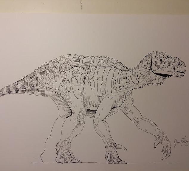 Iguanodon Line Art