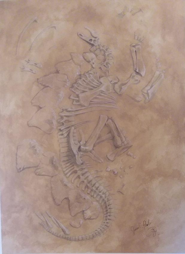 Stegosaur skeleton