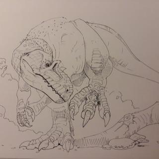 Allosaurus Line Art