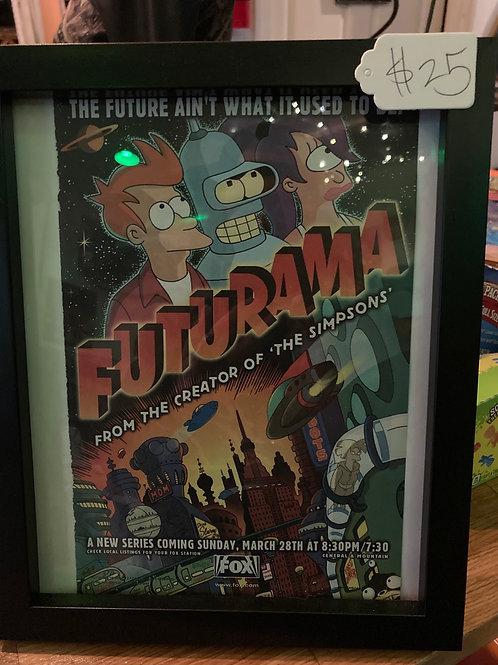 Futurama Framed Vintage AD