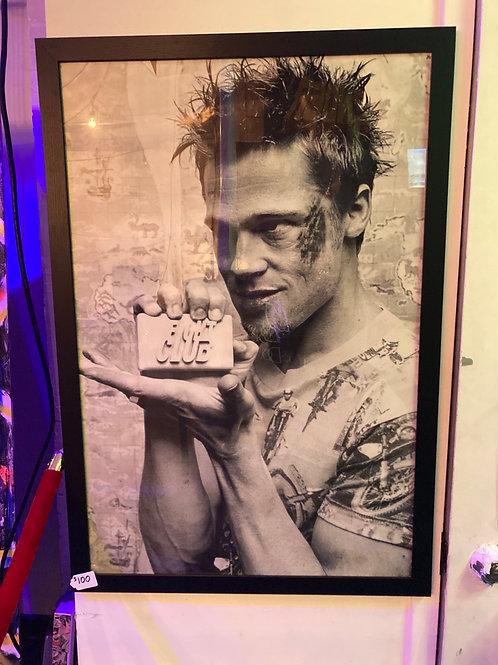 Vintage Brad Pitt Fight Club Framed Poster
