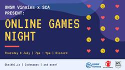 UNSW Vinnies x SCA Online Games Night