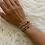 Thumbnail: Gold Sphinx Goldstone Bracelet
