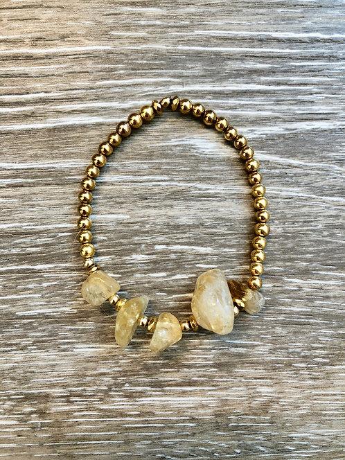 Citrine & Gold Bracelet