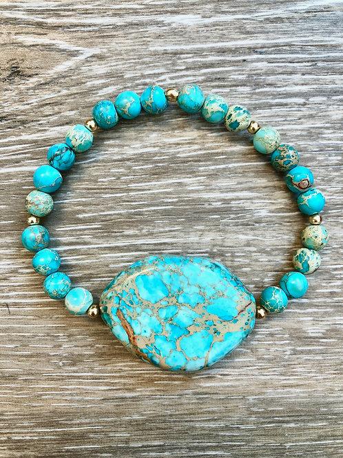 Aqua Jasper Mama Mermaid Bracelet