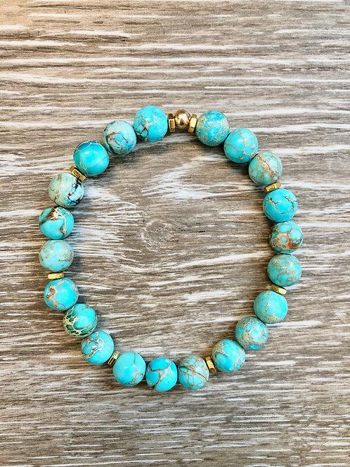 Aqua Jasper Mermaid Bracelet