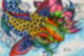 Koi Fish (fantasy) - 4 x 6 copic marker and pen