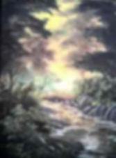 Evening Haze - 9 x 12 oil on canvas