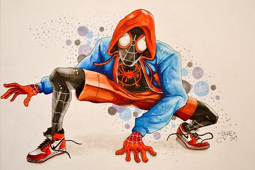 8 x 10 Illustration Spider Man - Miles Morales