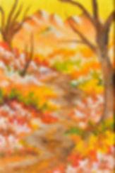 Autumn trail - 4 x 6 oil painting (impression)
