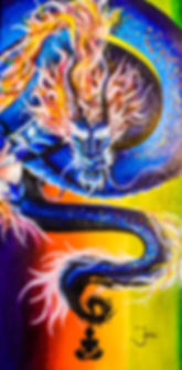 The Dragon Within - 12 x 24 oil on canvas