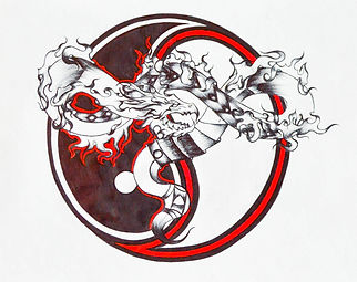 Sketch - Yin Yang Dragon