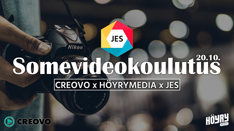 Creovo x Höyrymedia x JES - somevideokoulutus