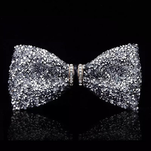 Unisex Bling Bow tie w/Brooch