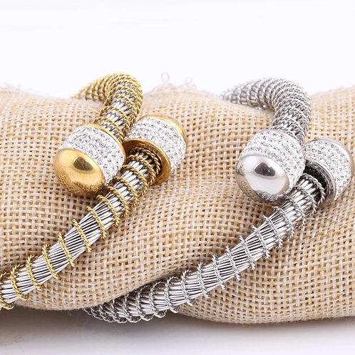 Elastic Wire Stainless Steel Bracelet